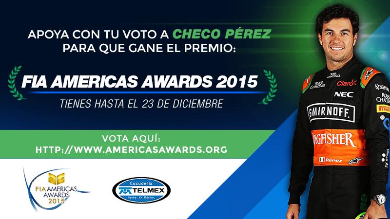 ¡Vota por @SChecoPerez y ayúdalo a ganar el FIA Fans Driver Award! #ChecoFIAawards https://t.co/mlfoJfYmt0 https://t.co/MbvPbsWWhl
