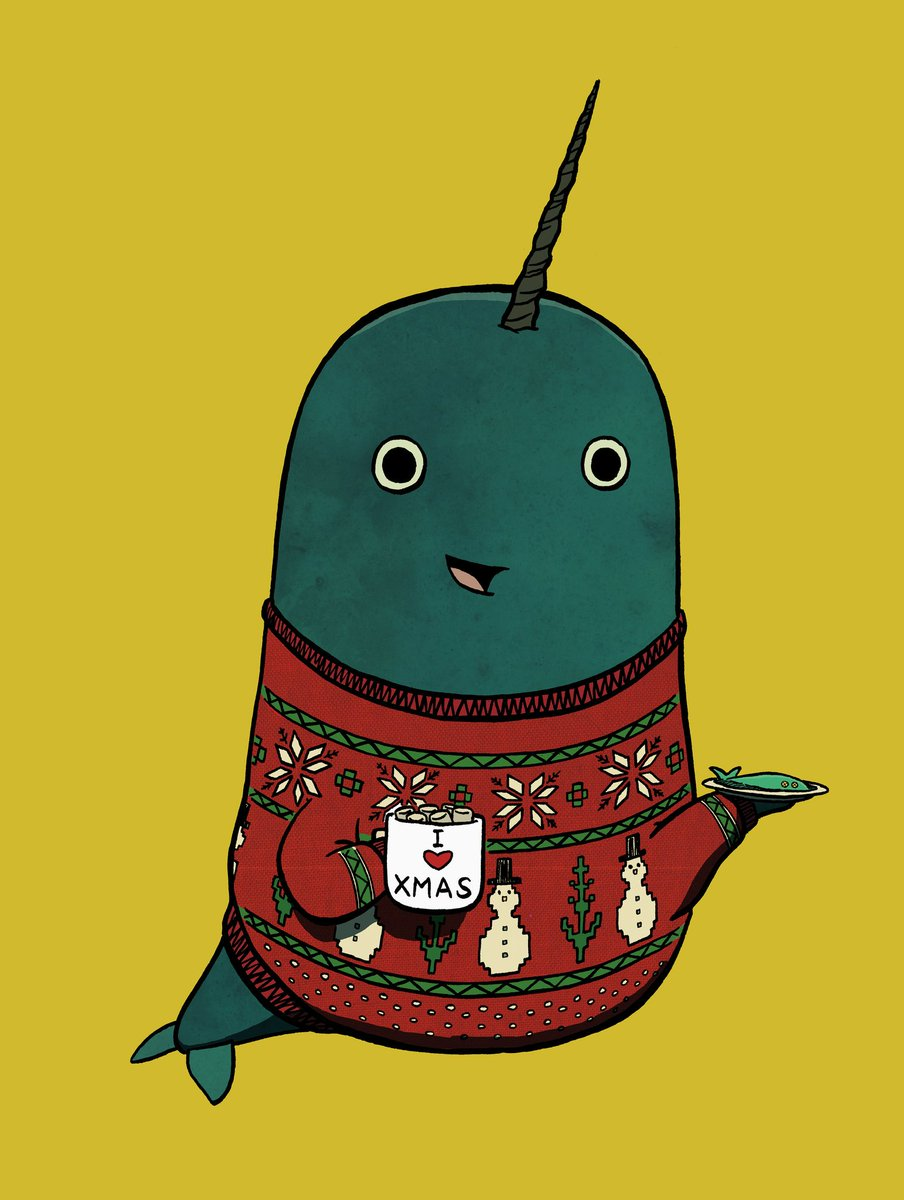 A Christmas Narwhal for @AnimalAlphabets #AnimalAlphabets https://t.co/49P5UGforq
