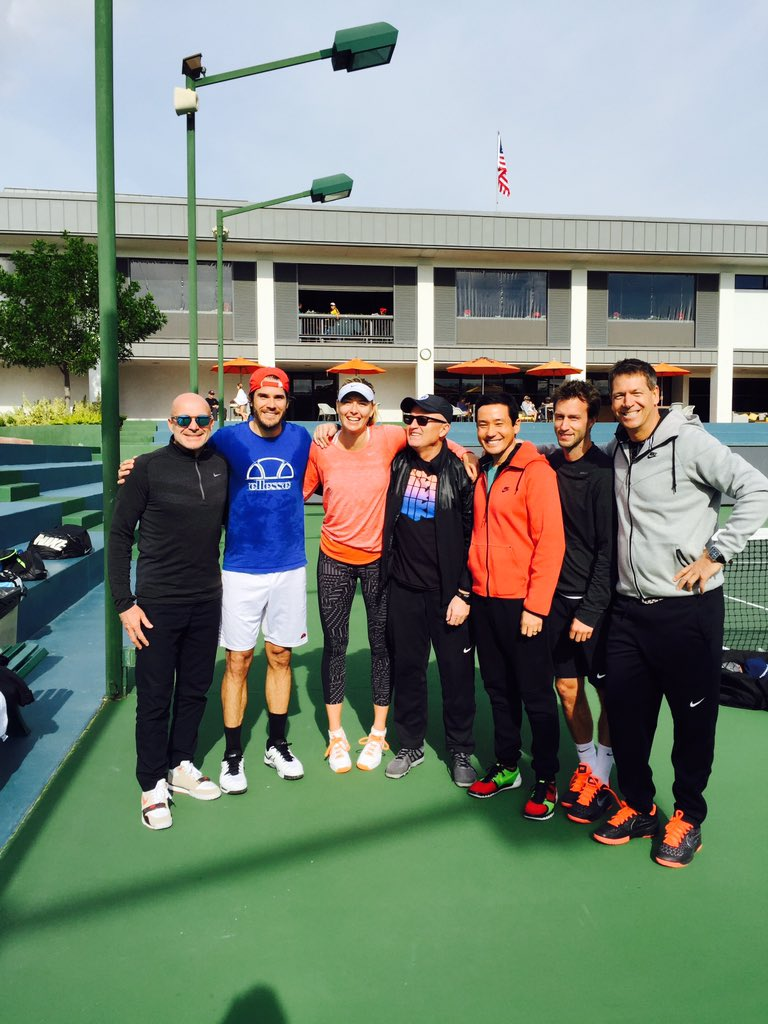 Look who joined us today for a great morning session @TommyHaas13 #TeamEffort https://t.co/xNyr5ev45r