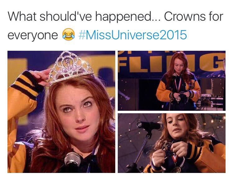 BOWING DOWN TO WHOEVER MADE THIS #MissUniverse2015 https://t.co/6XURwB7v4u