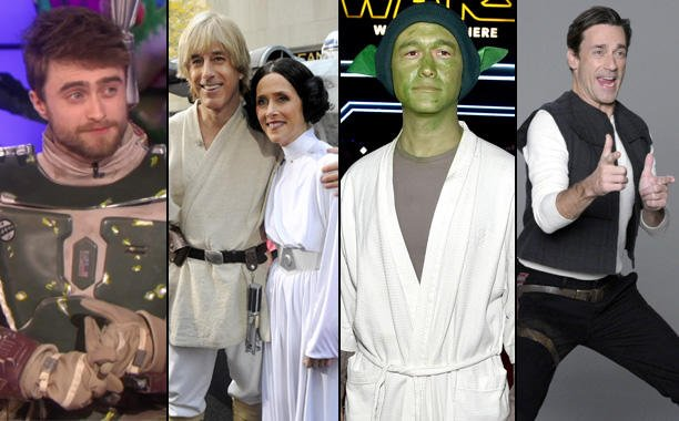 From Jon Stewart to Tina Fey, see celebs dressed up like your fave StarWars characters: