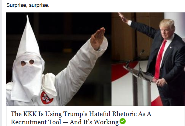 https://t.co/XtNedtBlbs The #KKK is using #TRUMP'S hateful rhetoric as a recruitment tool. #Uniteblue #stoprush #P2 https://t.co/ceEbHAh1EX