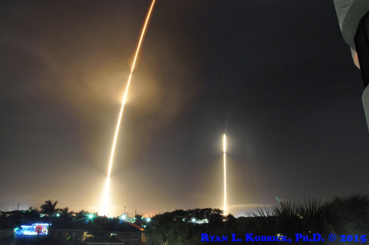 On the longest night of the year, @SpaceX lit up the sky twice by launching & landing a rocket in Florida! #RTF #LZ1 https://t.co/0A83FJYxqI