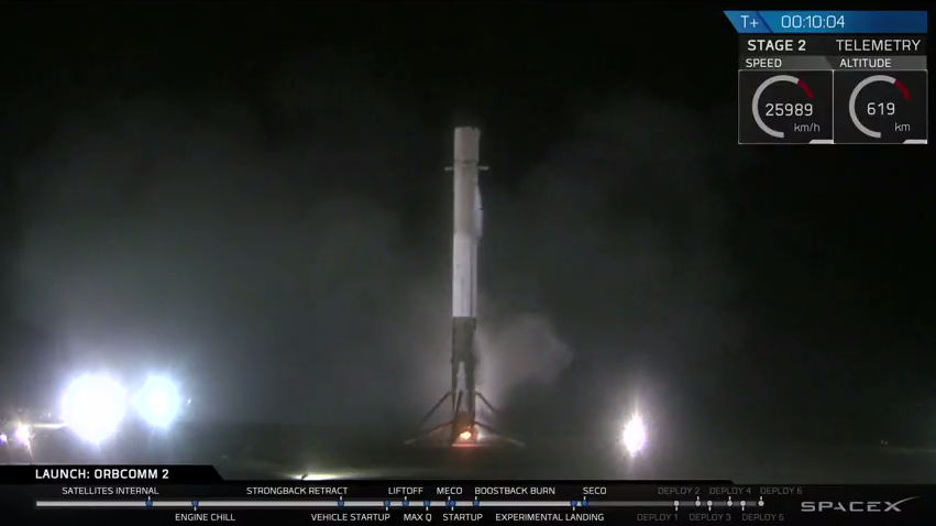 """OMG! congrats!""""@SpaceX: The Falcon 9 first stage landing is confirmed. Second stage continuing nominally. https://t.co/Lm9HTtY8ig"""""""
