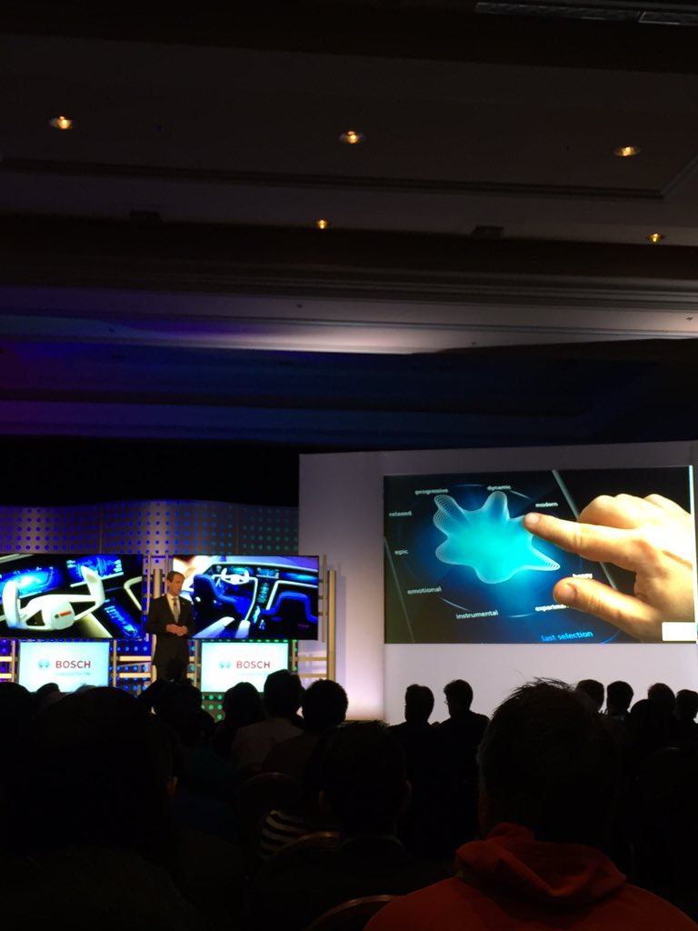 Bosch haptic feedback infotainment displays will have similar tactile response as smartphones #CES2016 #BOSCH https://t.co/feYDC7P9h8