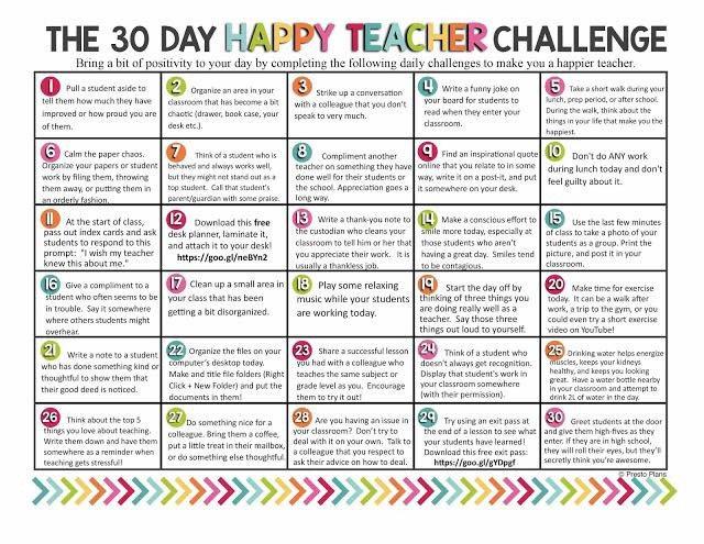 Great way to start 2016! #30dayChallenge #beahappyteacher #teachers #edtech https://t.co/flzMo7GQfb