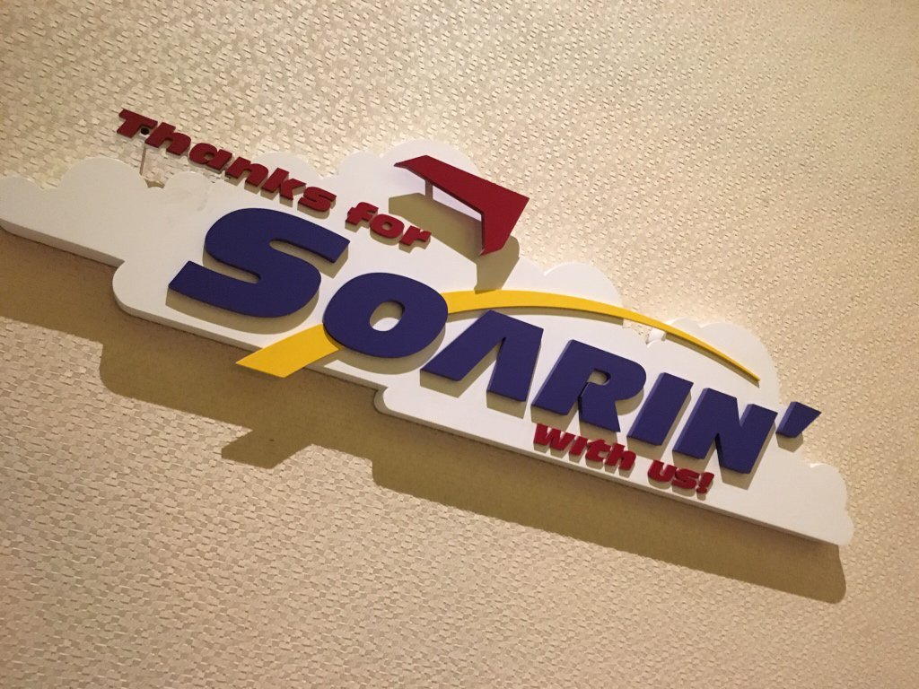 9:00 PM. EPCOT is closed, marking the end of a 10 year run for Soarin' over California. Thanks for Soarin' with us. https://t.co/MxsbQ9NOl3