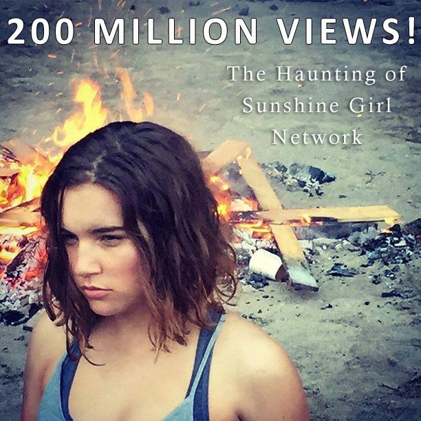 Our little YouTube channel just passed 200 million views. That's a lot of eyeballs. @Nickindie @hauntedsunshine https://t.co/WmAgwhXrIW