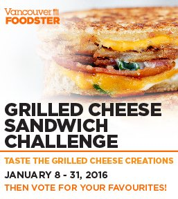 Vancouver Grilled Cheese Challenge January 8-31 #GrilledCheeseYVR see the line-up at https://t.co/8TABySzvRf https://t.co/OCO8Sa3wgq
