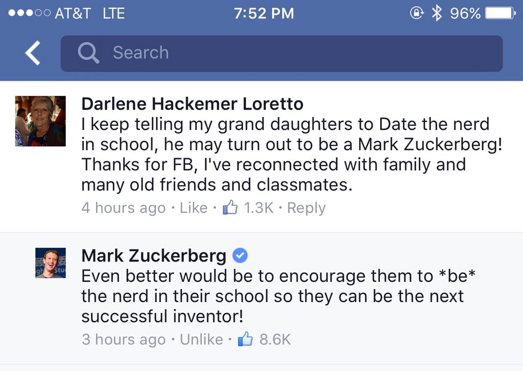 This response by Mark Zuckerberg is so good, it brings tears to my eyes. As a father of a young daughter, 100x yes! https://t.co/Ymswv8Rynu