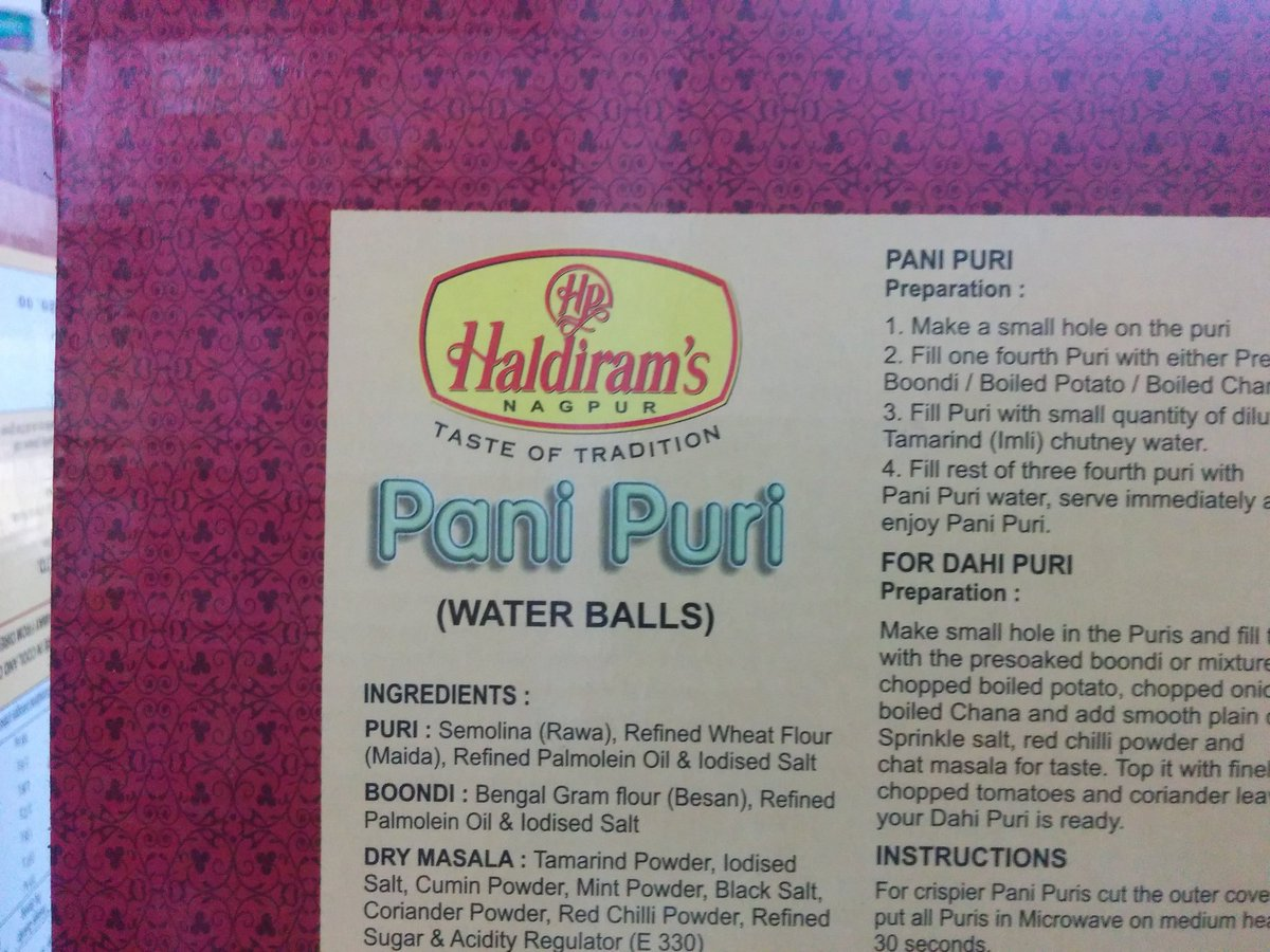 So, pani puri is now called water balls. https://t.co/PXtwwjJwrv