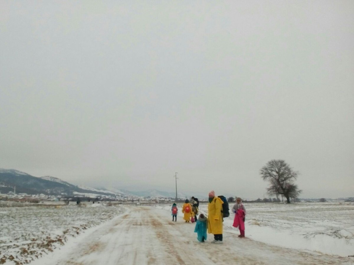 RT @MSF_Sea: The kids, their pregnant mum & their grandparents will need to walk 3.5 km in the snow to reach #Presevo in #Serbia https://t.…