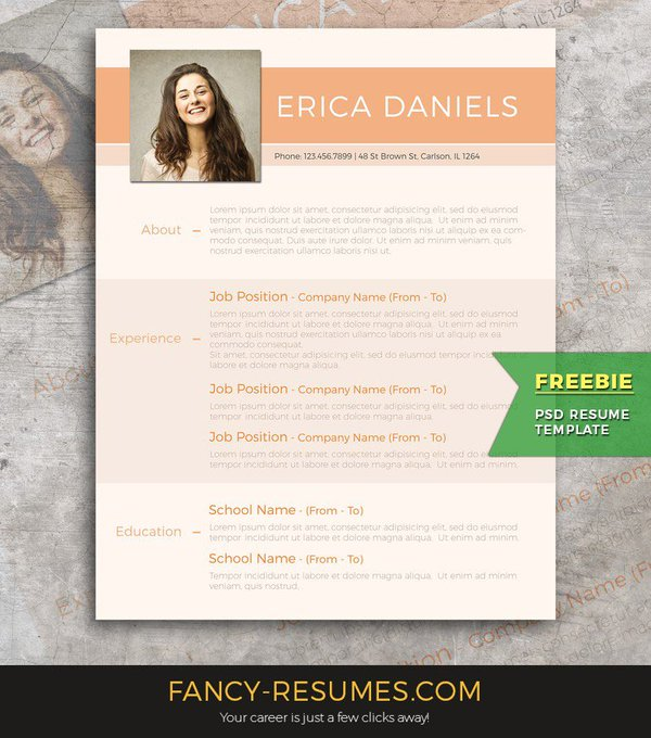 FREEBIE: Modern resume template, get yours for free from fancyresumespro