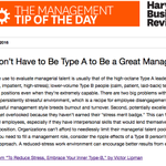 Today's management tip: Embrace your inner Type B https://t.co/BeLbE8FumB