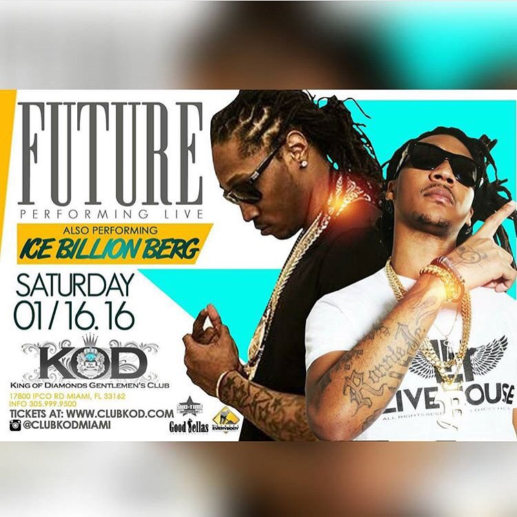 MLK weekend  1/16/16   @1future x @IceBerg305 performing live via @KINGOFDIAMONDSS  ⚠️⚠️ https://t.co/V8nad1N9Ob