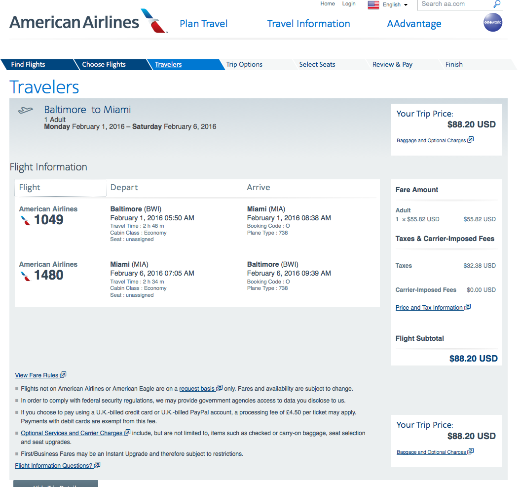 RT @airfarewatchdog: Baltimore BWI to Miami MIA $89 round-trip, nonstop, on @AmericanAir for winter travel https:…
