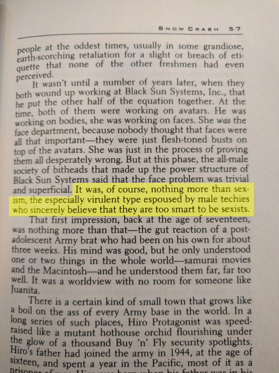 Holy shit. @nealstephenson called this in 1992. 24 years later and it's still a problem. Maybe worse of a problem. https://t.co/1visTmgP2Y