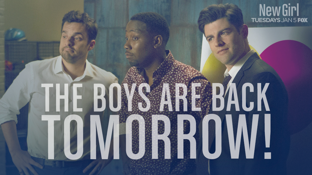 Nick, Winston and Schmidt invite you to watch #NewGirl tomorrow, 8/7c on @FOXTV. https://t.co/e7Qa1HuAmS