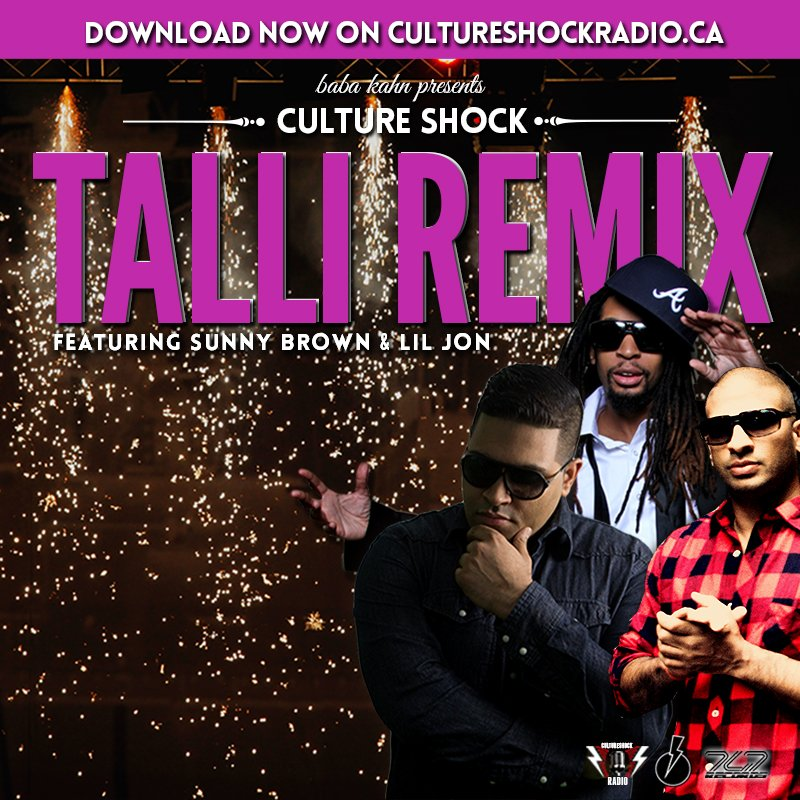 "Check it out! @CultureShock_3 ""Talli Remix"" feat @babakahn @sunnybrown @liljon DOWNLOAD FREE https://t.co/5WJyyiWYla https://t.co/DwR3lPwXS1"