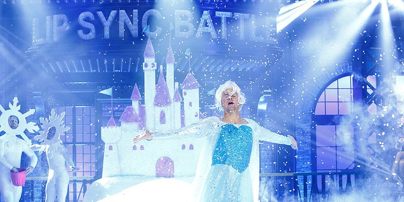 OMG! Channing Tatum embraced his inner Elsa for LipSyncBattle!
