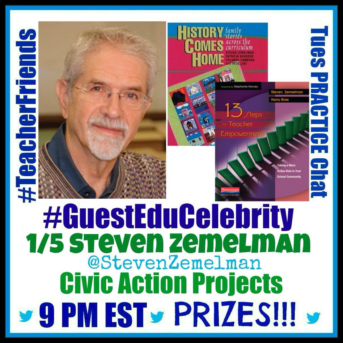 #TeacherFriends 1/5 Civic Action Projects w @StevenZemelman Win his books! Please REtweet/bring tweeps https://t.co/9WDg3VfIe8