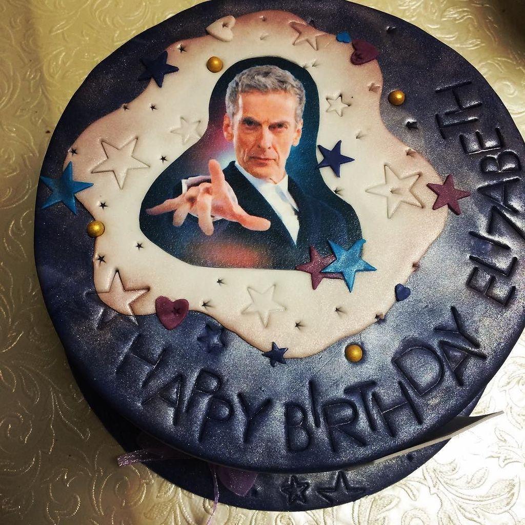 It's my birthday. This is my cake.  Peter CAKEpaldi.