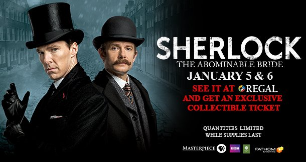 Get an exclusive collectors tix 1/5 when u see @FathomEvents Sherlock: The Abominable Bride! https://t.co/O53026IRF7 https://t.co/wGr7ifHQxU