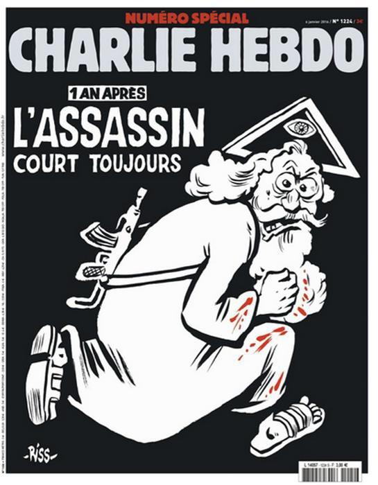 Chiesa cattolica e musulmani di #Francia uniti contro #CharlieHebdo. Dio col mitra e tunica macchiata di sangue. https://t.co/yrAlKmEfX7