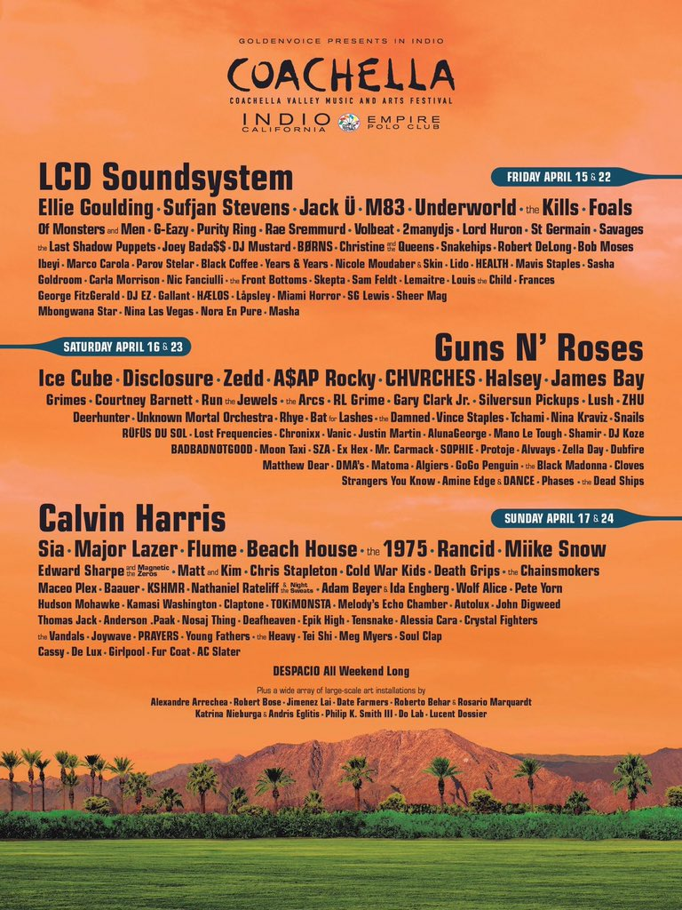 Sundays at @coachella 2016.   #Coachella2016 https://t.co/giZETq0tqD