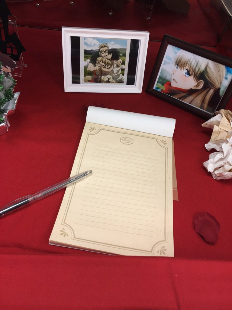池袋の血界カフェのとこにあったレオのお手紙、アニメイトのそばのキャンドゥに同じのあってこないだ二度見したので貼ってきます https://t.co/TAmhX1093G
