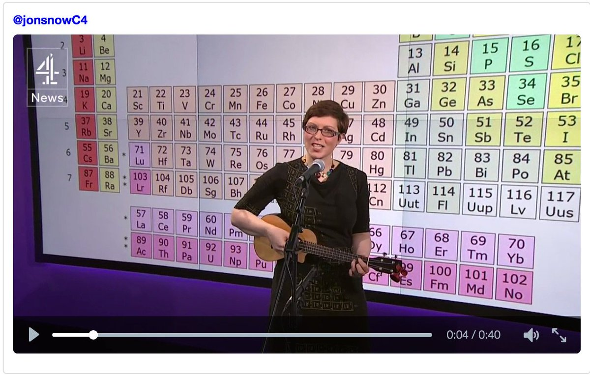 ICYMI: here's me updating Tom Lehrer's Elements Song for @channel4News last night: https://t.co/0fhqd9oeLI https://t.co/P2fxDkHnub