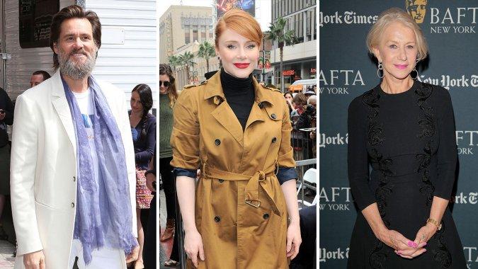 Bryce Dallas Howard, Helen Mirren, Jim Carrey to Present at