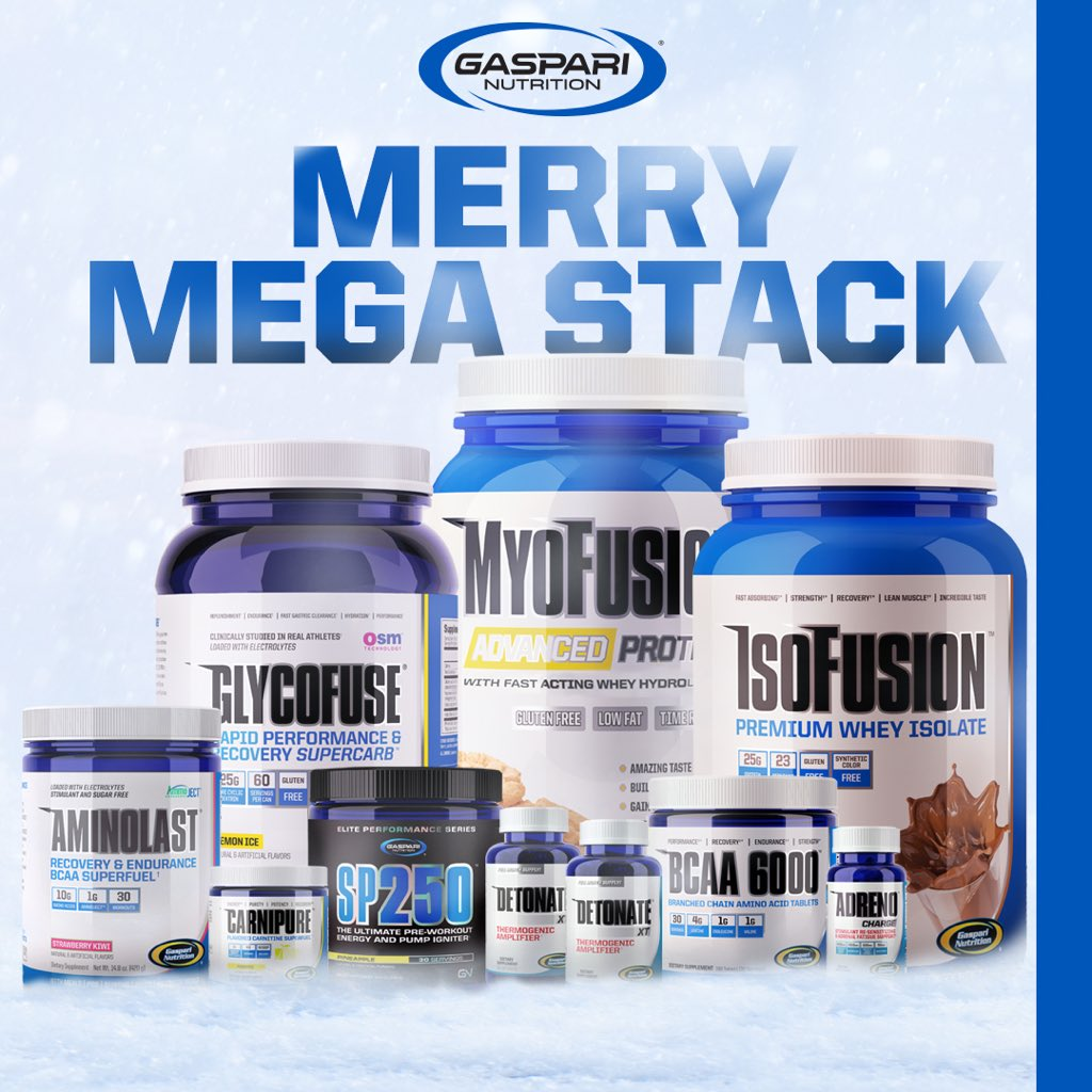 #Gaspari wants make your #Christmas with this #MerryMegaStack!! RT & Follow @TeamGaspari to win this MEGA stack!! https://t.co/TFp38aLG15