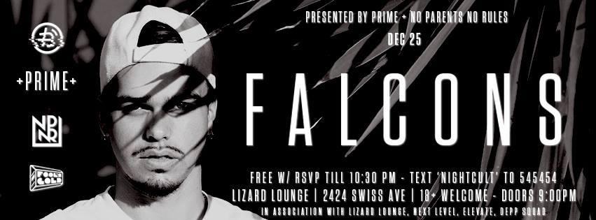 TOMORROW NIGHT NPNR x PRIME presents @falconsbeats at @Lizard__Lounge  Tickets: https://t.co/OxWscwtVkL https://t.co/Hc4hrqXF4S