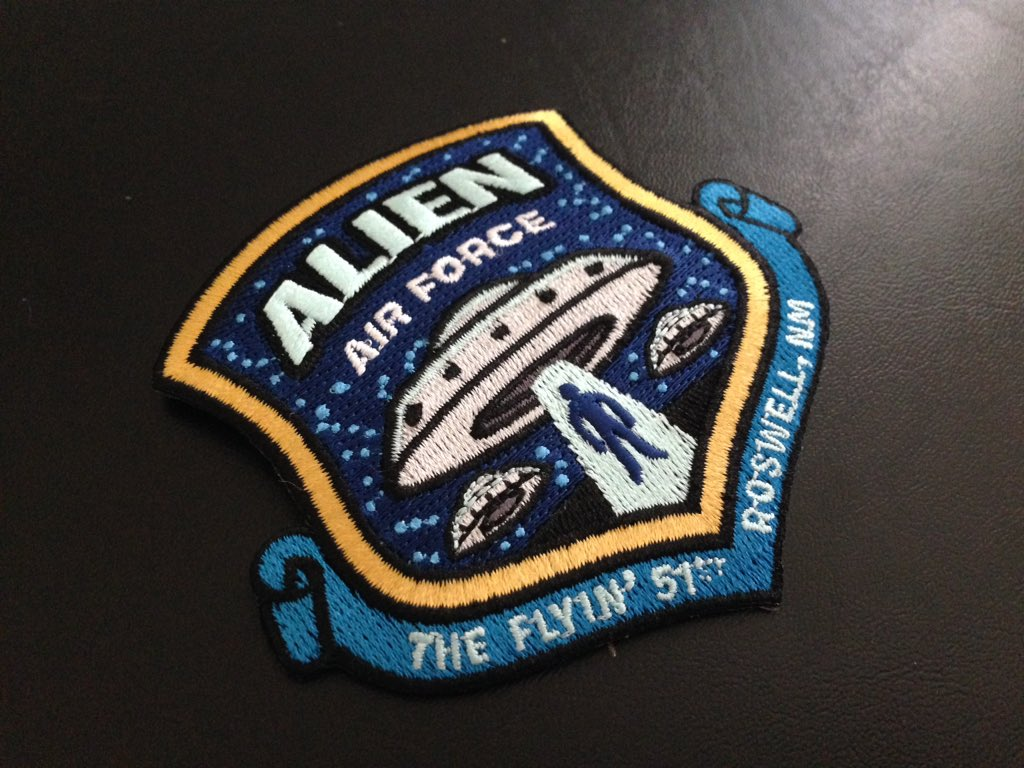 Alien Air Force patches: landed. #patch #cryptid #kickstarter #ufo #aliens #cryptidcommand https://t.co/NMuGCxdCCn