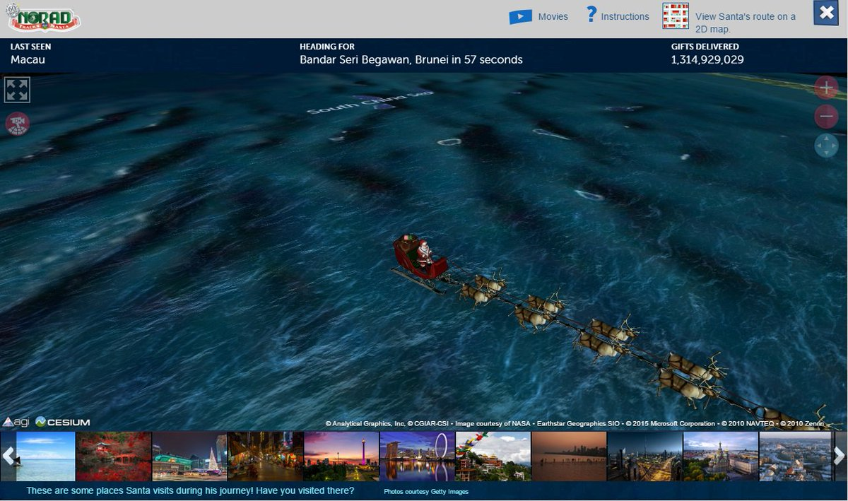 """Santa just flew over S. China Sea.  Did he get the """"Leave immediately in order to avoid misjudgment"""" radio call? https://t.co/SUCyZDSsQN"""