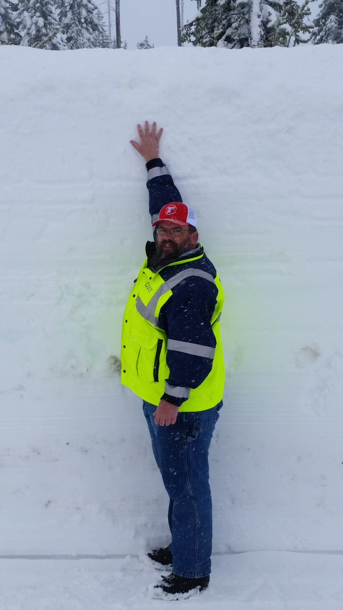 This is Dan and this is 9 days' worth of snow on Oregon 230 in the southern OR Cascades. #Snowmygoodness https://t.co/ifqY6BRpKr