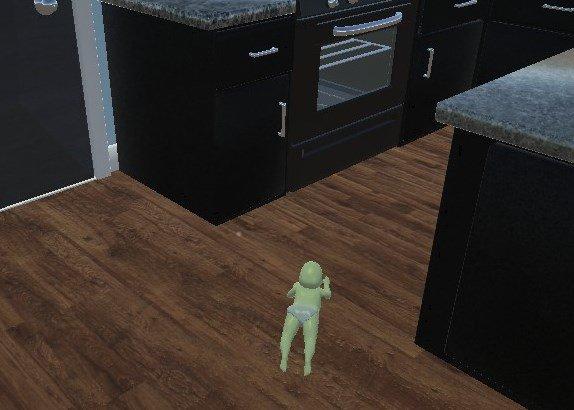 イブに発売されたゲーム『Who's your daddy』は赤ちゃんとパパに分かれた対戦ゲームで、赤ちゃんはパパの目を盗んで事故死すると勝ち。画像はスタート直後に洗剤を一気飲みし変色しながらオーブンで焼かれに行く息子。なにこれ。 https://t.co/JM1kEchD1b