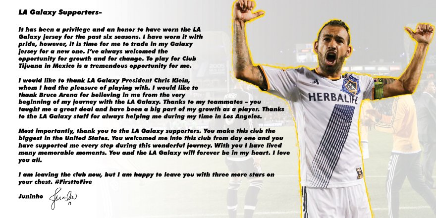 Thank you @LAGalaxy fans! https://t.co/7OIKLPtb9F