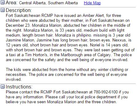 #AMBERALERT ISSUED: 3 children were abducted by their mother, in Fort Saskatchewan on Dec 23 in #FortSask https://t.co/f0smGvoD1r
