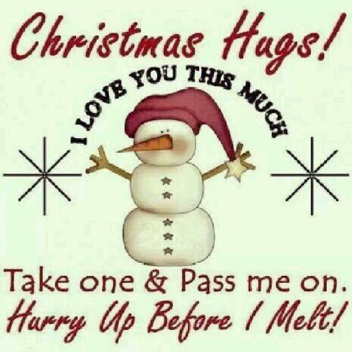 Take one and pass it along!! #Christmas #Hugs https://t.co/4tUmnttTtm
