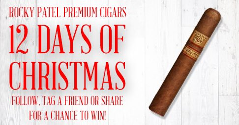 Follow, tag & RT to win 5 pack Royales! Check back daily at noon for winners and more giveaways! #RockyPatel https://t.co/TJPTizQRjh