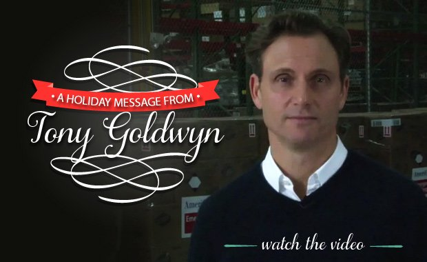 A holiday message from our ambassador @TonyGoldwyn on behalf of people in need. Please share https://t.co/KzNUEF7KhD https://t.co/Pm5IlYOuuV