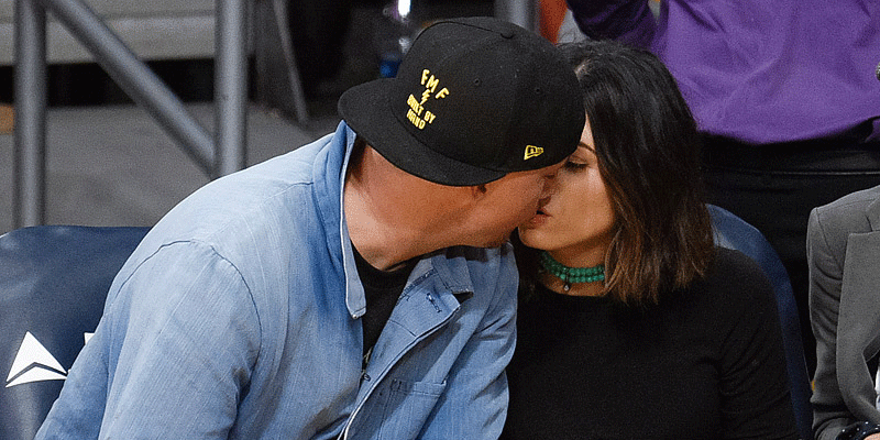 Channing Tatum and wife Jenna Dewan-Tatum at @Lakers game =