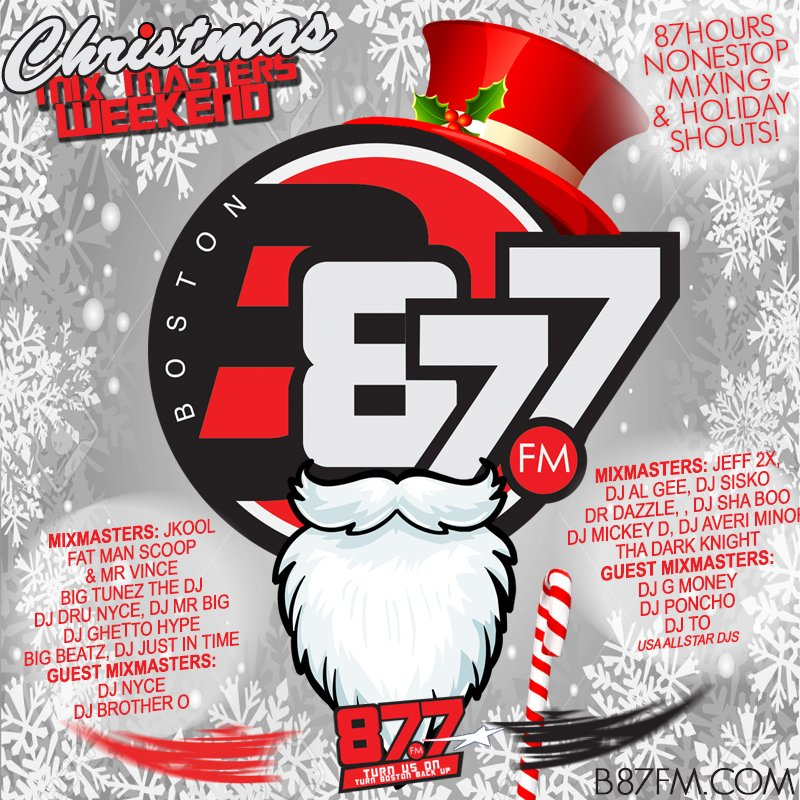 MERRY CHRISTMAS!!! We're In 87 None Stop Hour Christmas Mixmaster Weekend! Tune In: https://t.co/UvcHJKmmSy @B87FM https://t.co/RE8GZCOMSb