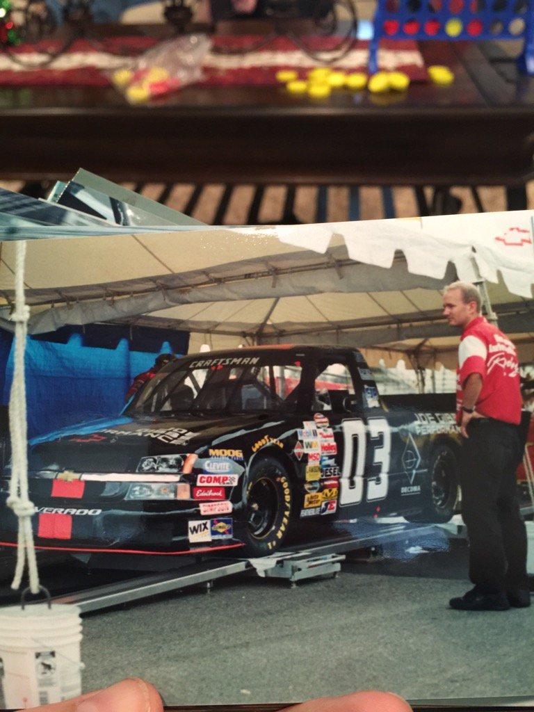 .@MikeCWheeler checking on me in my first truck start in 2004. #FBF https://t.co/k3hQKJXgJc