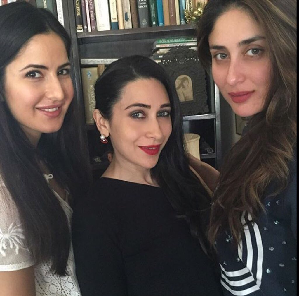 The 3 K's! Kareena and Karisma pose with Katrina Kaif for the first time at the Kapoor Christmas brunch - https://t.co/5DKbGAutDL