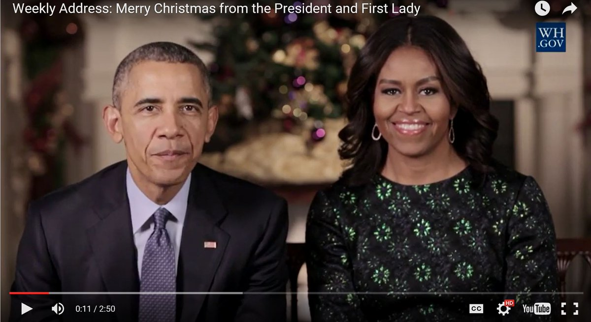 Weekly Address: Merry Christmas from the President and First Lady   https://t.co/2IA5R1fN93 https://t.co/sGV6MrPH3L