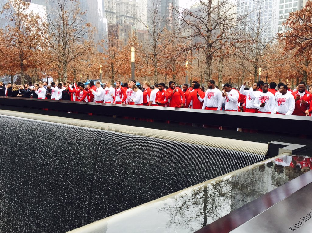 #iufb Paying Respect at 9-11 Memorial - Blessed & Proud of Our Men - #GoIU https://t.co/CZtPLaf1Me