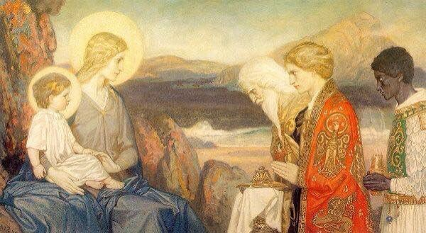 Adoration of the Magi John Everett Millais 19th Century https://t.co/Dw5PFPWpPf